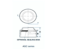 ASC SERIES-Threaded Aluminum Caps for Threaded Flared Fittings - 2