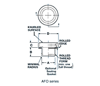 AFO Series - Threaded Aluminum Plugs for Flat - Faced O - Ring Hydraulic Fittings - 2